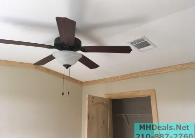 2 bedroom 1 bath cedar sided porch cabin ceiling fan